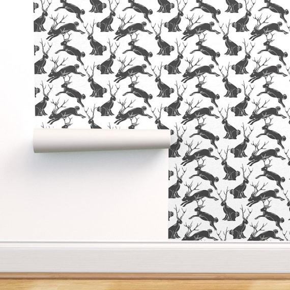Jackalope Wallpaper Black Jackalopes By Holli Zollinger Etsy