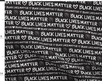 Black Lives Fabric - Black Lives Matter By Winniepeach - 2020 Protest Political Social Justice Cotton Fabric By The Yard With Spoonflower