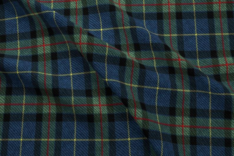 Blue Green Red Yellow Tartan Fabric Classic Tartan By  3a4cf99e5