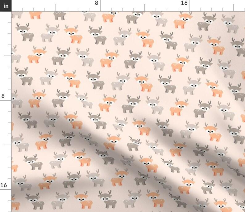 Woodlad Nursery Deer Fabric  Little Deer By Heleenvanbuul  image 1
