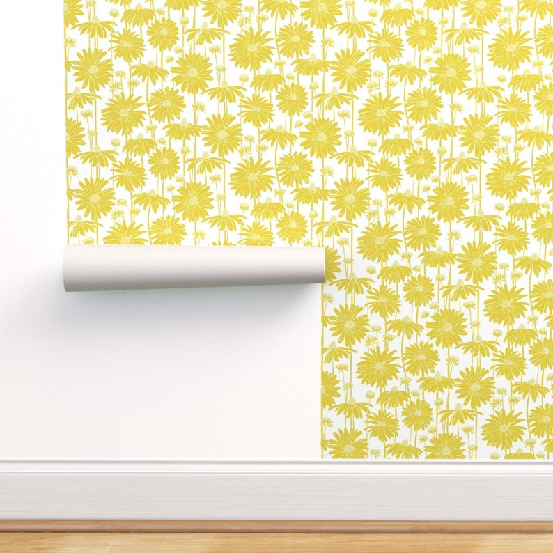 Gold White Custom Printed Removable Self Adhesive Wallpaper Roll by Spoonflower Mermaid Wallpaper Mermaid Gold Sparkle By Crystal Walen