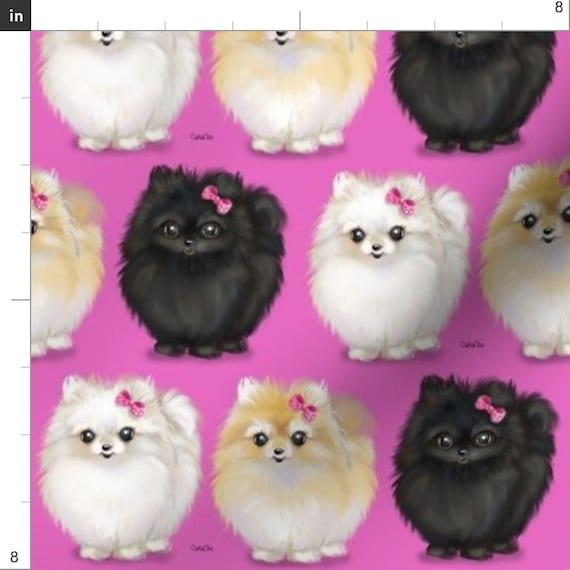 Dog Pomeranian Fabric Panel Make A Cushion Upholstery Craft