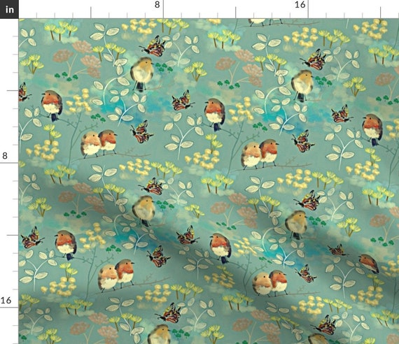Vintage Swallow Print Fabric by the Yard with Material of Your Choice cotton included!