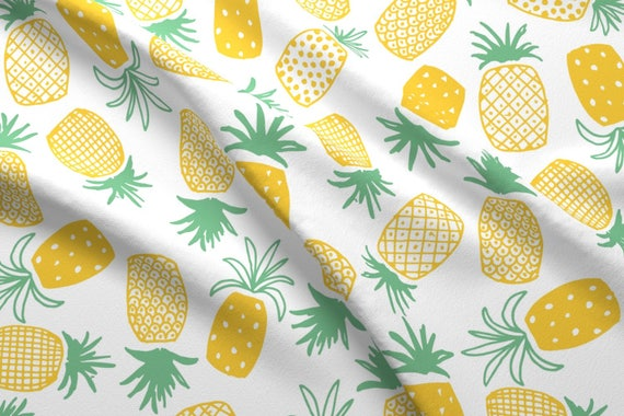 Pineapple Fabric Pineapple Print Large By Shelbyallison