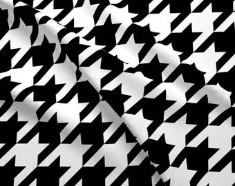 Black + White Houndstooth Check Fabric - Medium Size Houndstooth Check - Black White By Theartwerks - Houndstooth Fabric With Spoonflower