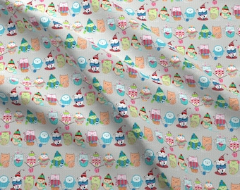 Knitting Friends Fabric - Itty Bitty Knitting Committee - Smaller By Designed By Debby - Knitting Cotton Fabric By The Yard With Spoonflower