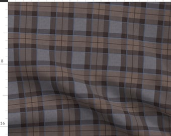 Tartan Plaid Fabric - Fraser Hunting Tartan Plaid Large By Laurawrightstudio- Scottish Plaid Cotton Fabric By The Yard With Spoonflower