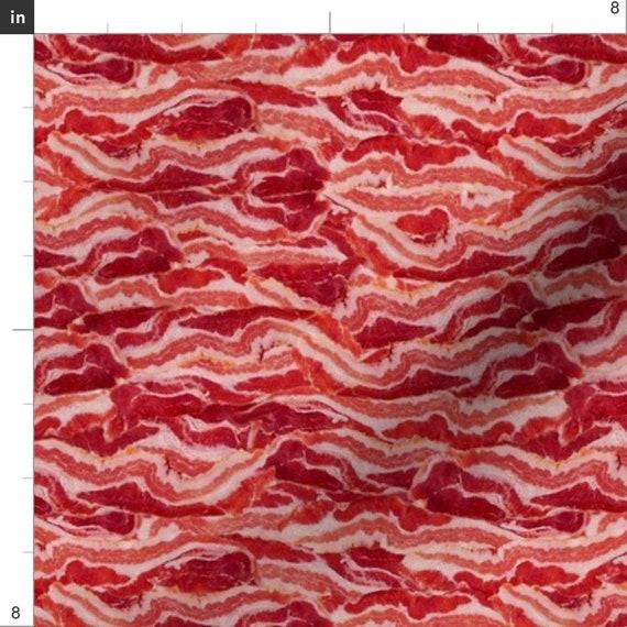 Bacon Breakfast Food Pork Cotton Fabric Timeless Hi-Fashion C3997 By The Yard