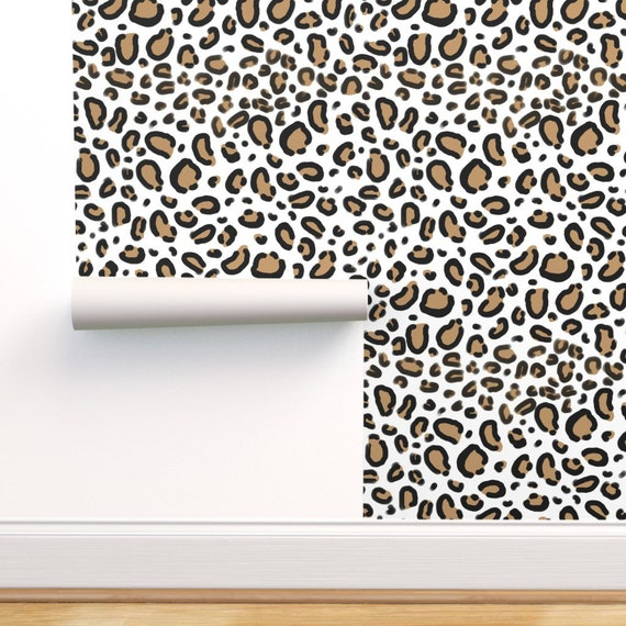 Cheetah Print Wallpaper Leopard Animal Print By Charlottewinter Custom Printed Removable Self Adhesive Wallpaper Roll By Spoonflower