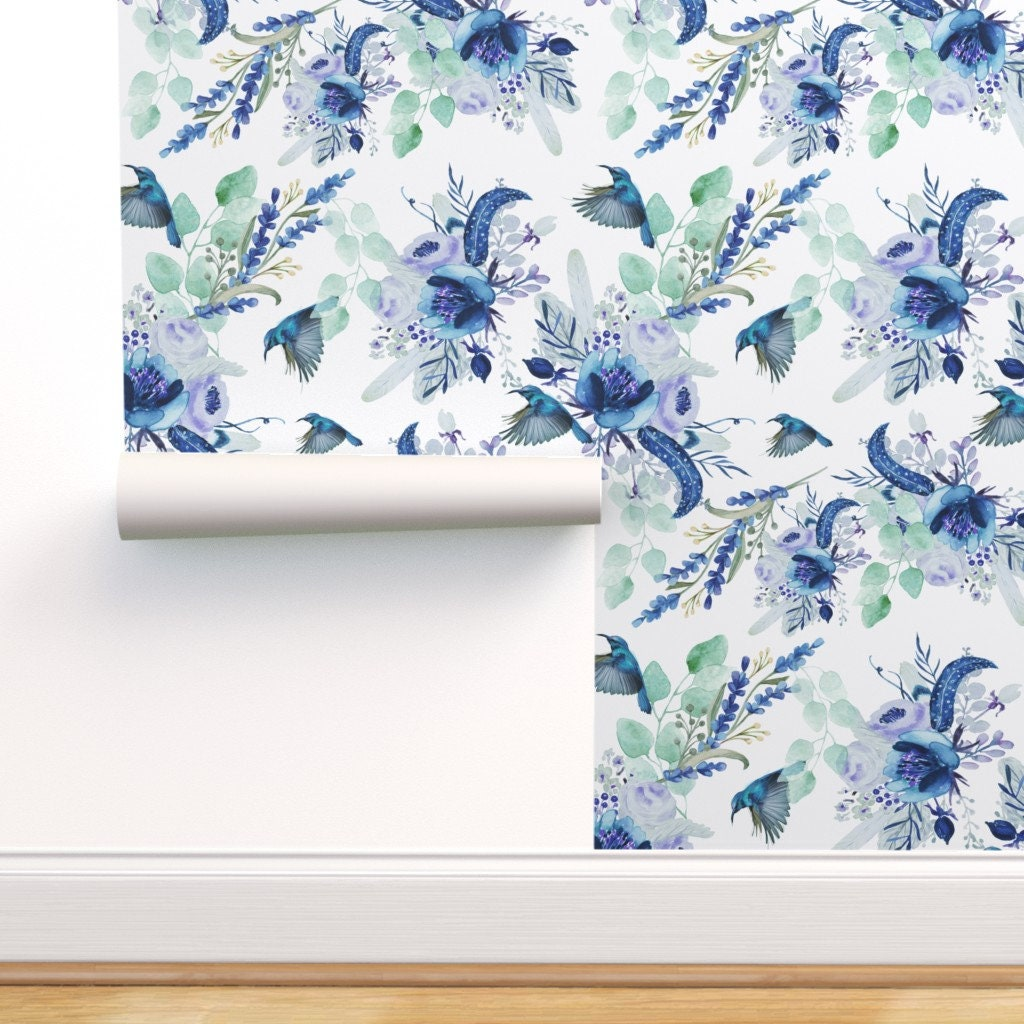 Hummingbird Wallpaper Jey Hummingbirds By Dawn Leblanc Etsy
