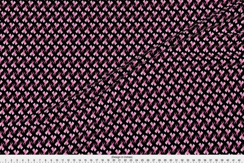493996b3b44 Breast Cancer Fabric Breast Cancer Pink Ribbon On Black By