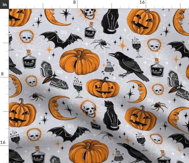 Vintage Halloween Fabric  Happy Halloween By Torysevas  image 1