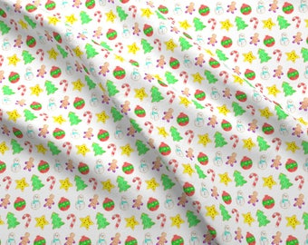 Christmas Cookie Fabric - Christmas Cookies Mini By Erinanne - Christmas Cookie Holiday Sweets Cotton Fabric By The Yard With Spoonflower