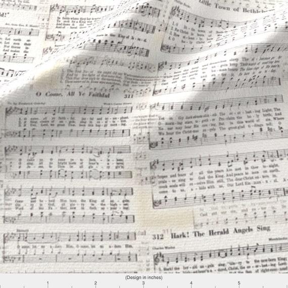 Christmas Carols Sheet Music.Christmas Carol Music Fabric Vintage Christmas Carol Sheet Music By Juliamonroe Sheet Music Cotton Fabric By The Yard With Spoonflower