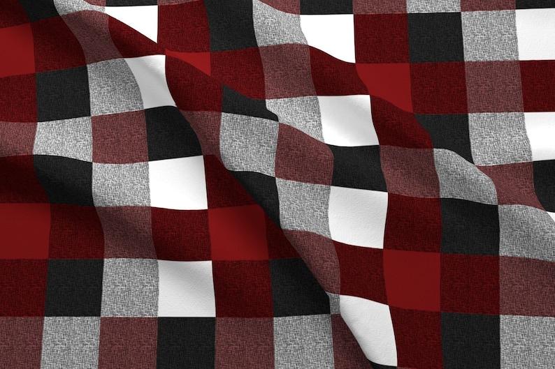4ff5d2de57a Buffalo Plaid Fabric Buffalo Plaid Burgundy Red By Portage   Etsy