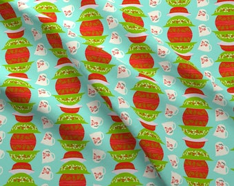 Christmas Fabric - Christmas Pyrex By Mandasisco - Christmas Casseroles Dishes Cotton Fabric By The Yard With Spoonflower