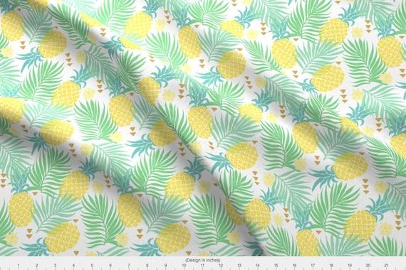 161876aa Pineapple Fabric Tropics By Innamoreva Tropical Yellow | Etsy