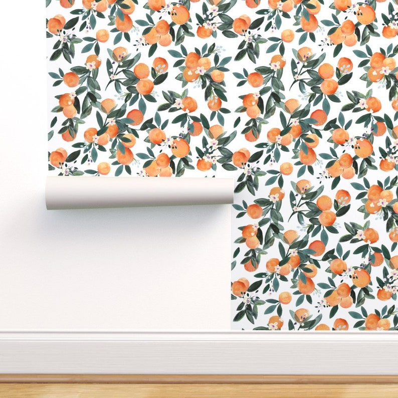 Citrus Wallpaper  Dear Clementine Oranges On White By Crystal image 0