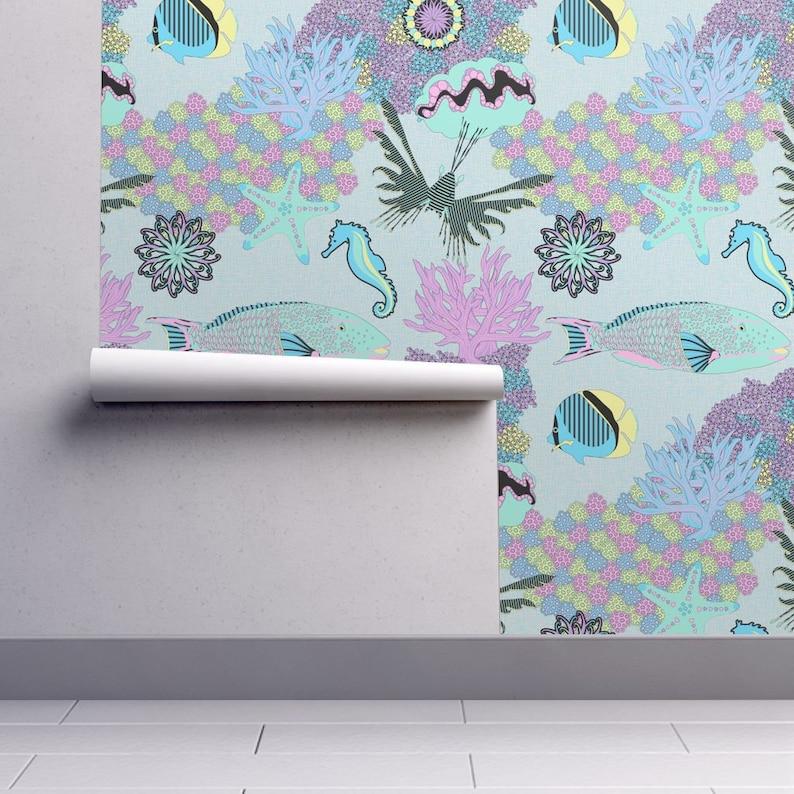 Tropical Dream Wallpaper Tropical Dream By Vannina Aquatic Etsy