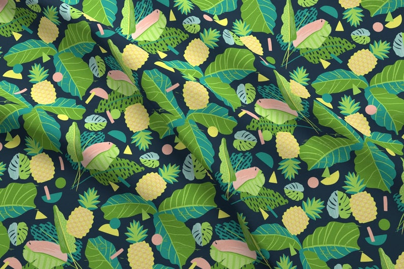 33abcf83 Tropical Pineapple Fabric Pineapple party By Lizmytinger | Etsy