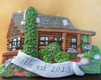 Custom House Ornament -Log Cabin - Architectural and Landscape Detail- JULY 2018 DELIVERY