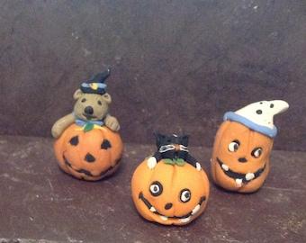 Halloween Fun Pumpkin Pals- Bear-Cat-Ghost