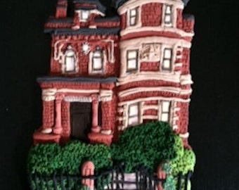 Custom City Home Ornament - Hand Sculpted  - Architectural and Landscape Detail - JULY 2018 Delivery