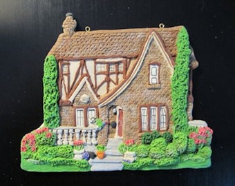 Custom Home Ornament  - Detailed Tudor and Stonework - Hand Sculpted - Architectural and Landscape Detail