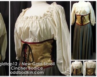 Odd Bodkin Waist Cincher in New Gold Scroll - Made to Order - gldtap12
