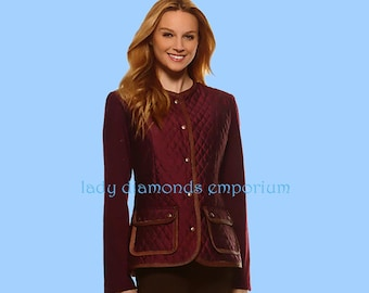 Misses/' Quilted Jackets /& Vests Uncut NEW New Look 6308 Sizes: 10-22