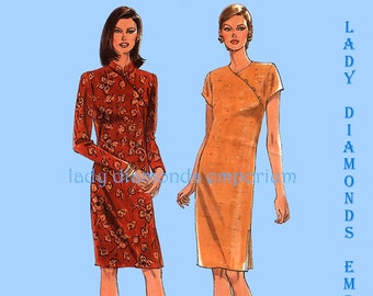 36715e50fcb Simplicity 7791 Womens Oriental Style Dress size 10 12 14 16 18 20 Asian  Cheongsam Shift Dress Sewing Pattern Uncut FF