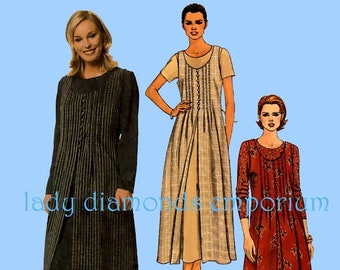 McCalls 9483 Womens Pullover A-line Short or Long Sleeve Dress and  Overdress size 8 10 12 or size 12 14 16 Vintage 90s Sew Pattern Uncut FF 086c95b01
