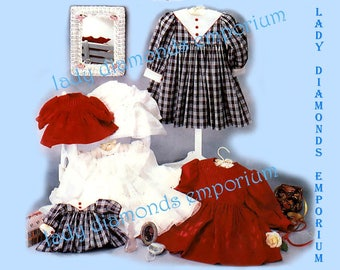 Simplicity 7036 Oliver Goodin Heirloom Babydoll Style Dress for Girls & Dolls Childs size 2 3 4 5 6 6X Vintage Sewing Pattern Uncut FF