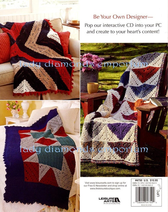 Diy Afghans By Mary Beth Temple Cozy Quilt Inspired Throw 8 Etsy