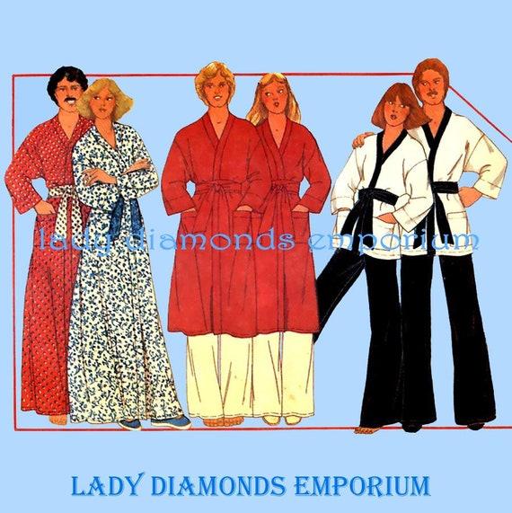 McCalls 5818 Mens   Womens Easy Kimono Style Robe Jacket  dc7415251