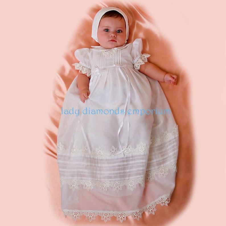 eb93bc678 Simplicity 2457 Baby Boys & Girls Christening Gown Dress Slip | Etsy