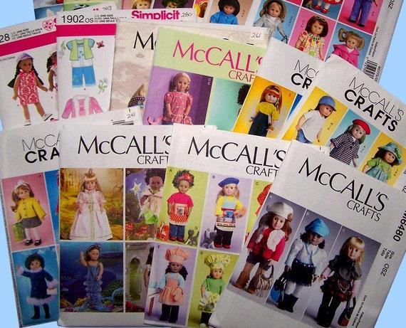 Wahl der 15 McCalls 18 Puppenkleider & Haustiere | Etsy