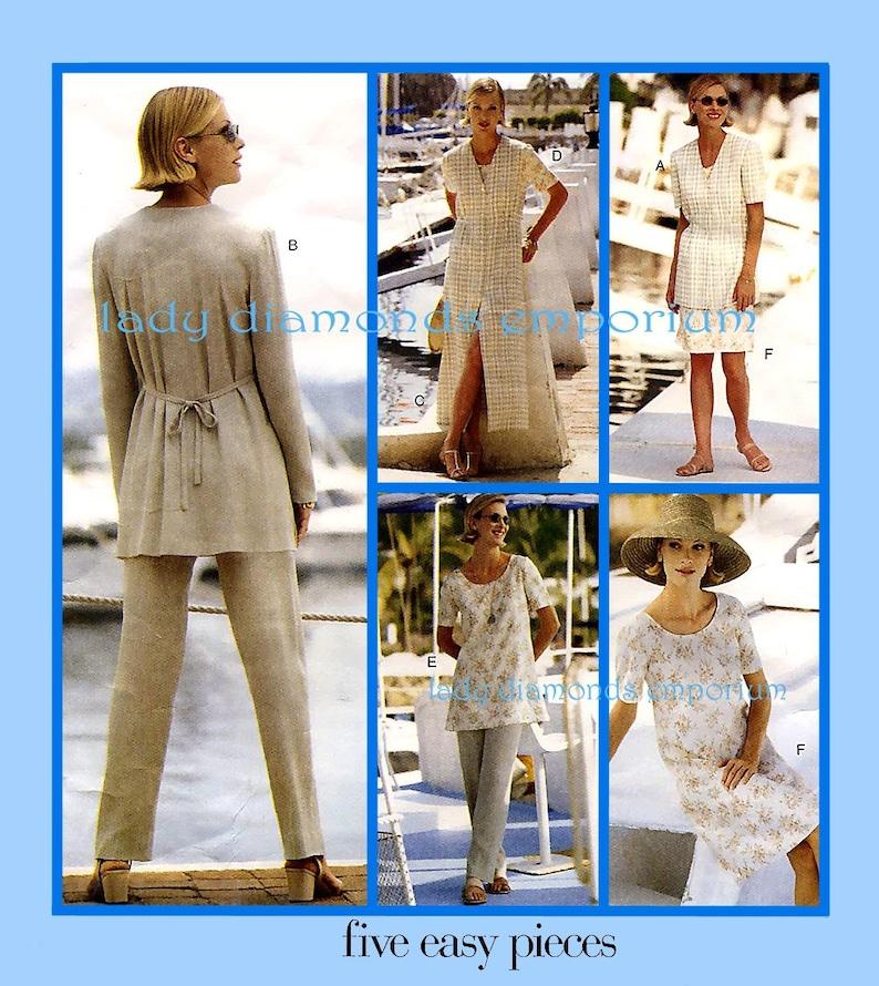e8a1717ba6f Easy Vogue 1752 Womens Jacket Jumper Dress Tunic Top Pants