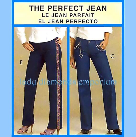 6c55490e858 McCalls M5142 Womens Classic Fit Jeans Pants 14 16 18 20 or 20