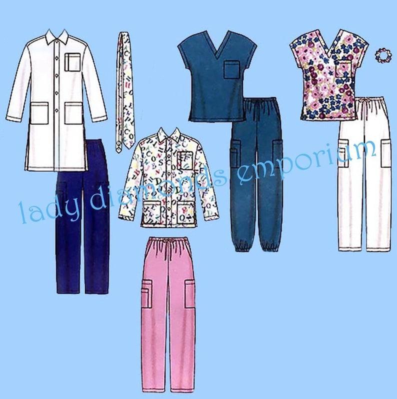 fdd35d1c496 Mens & Womens Scrubs Top Pants Lab Coat Jacket Tie size XL to | Etsy