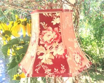 Flower Crewel Lamp Shade, Boho