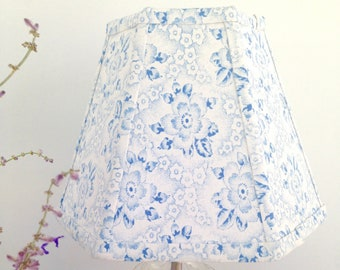 7d78b75e7e4 Blue Floral Lamp Shade