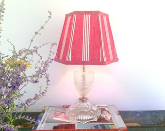 Small lampshade etsy red ticking lamp shade small lampshade vintage french fabric aloadofball Choice Image