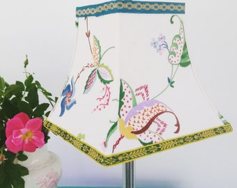 Embroidered Lamp Shades Embroidered lamp shade etsy embroidered lampshade in rainbow of color boho square bell lamp shade in funky trims audiocablefo