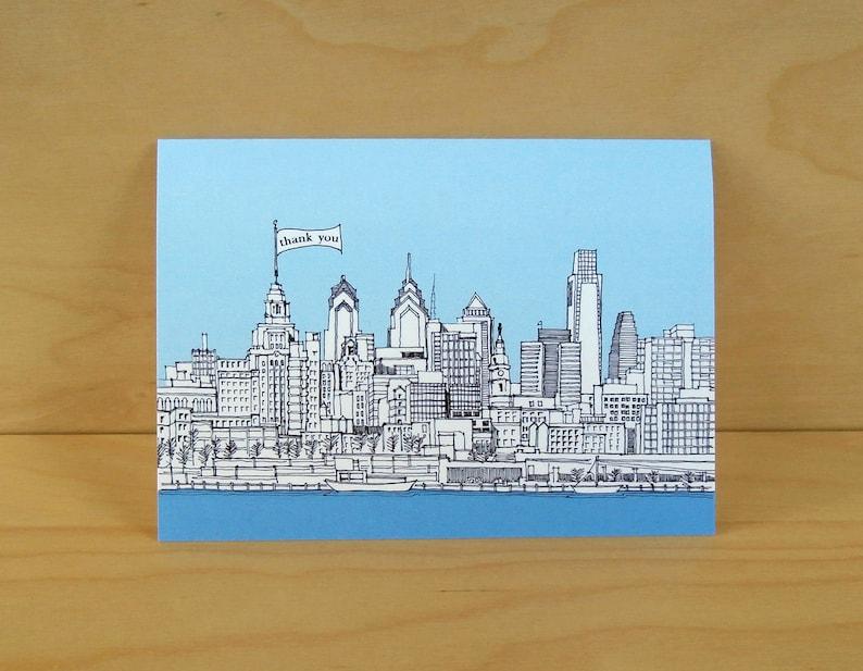 Philadelphia Skyline Card - Thank you, Birthday, Hello, Yo