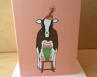 Cow Ice Cream Birthday Card