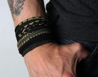 Men Bracelet, Wrap Bracelet, Cuff Bracelet, Boyfriend Gift, Gift for Men, Festival Clothing, Mens Gift, Husband Gift, Gift for Boyfriend