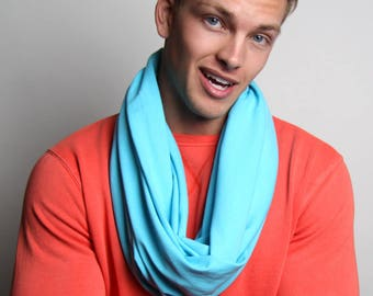 Light Blue Scarf, Baby Blue Scarf, Gift for Men, Mens Gift, Boyfriend, Boyfriend Gift, Gift for Husband, Gift for Boyfriend, Winter Scarf