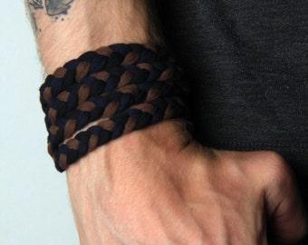 Braided Bracelet, Wrap Bracelet, Boyfriend Gift, Gift for Men, Festival Clothing, Mens Bracelet, Mens Gift, Gift for Husband, Boyfriend, Men