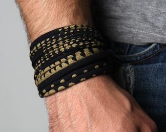 Mens Bracelet, Gift for Men, Boyfriend Gift, Mens Gift, Husband Gift, Wrap Bracelet, Gift for Boyfriend, Burning Man, Festival, Mens Jewelry